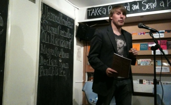 James Brookes reads at The Shuffle