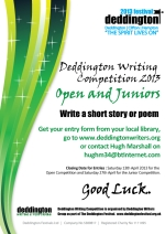 Deddington Writing Comp poster