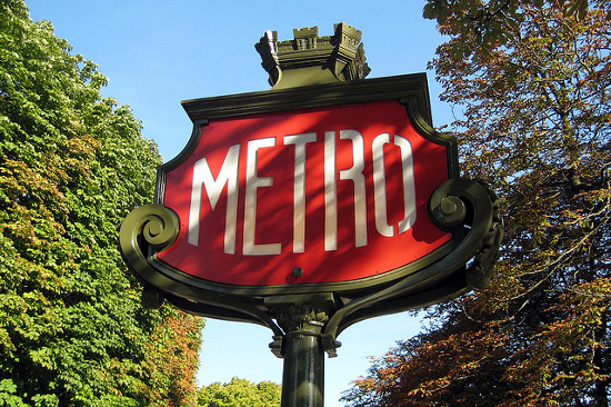 Metro station sign