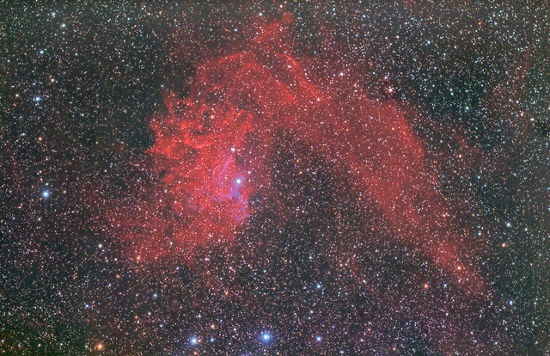 Image of flaming star nebula