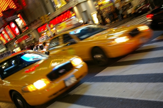 Photo of yellow cabs